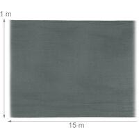 Brise-vue, paravent pour les clôtures, rambardes, anti-UV, résistant aux intempéries, 1 x 15 m, anthracite