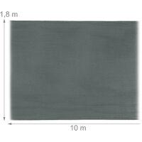 Brise-vue, paravent pour les clôtures, rambardes, anti-UV, résistant aux intempéries, 1,8 x 10 m, anthracite