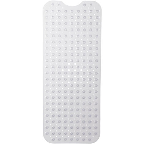maylace Tappetino Antiscivolo per Doccia in PVC idrofobo con Ventose Bianco
