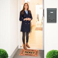 """Zerbino Ingresso Casa, 40x60 cm, Tappeto """"TICKET"""" Antiscivolo in Fibra di Cocco, Indoor & Outdoor, Multicolore"""