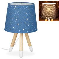 Lampada da tavolo gufo, design lume da comodino con paralume