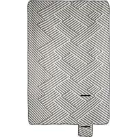 Coperta da Picnic XXL, 200 x 300 cm, Plaid Impermeabile da Spiaggia, Isolante, Telo con Manico, grigio/bianco