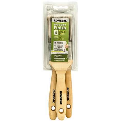 Ronseal 37074 Precision Finish Brush (Pack 3)
