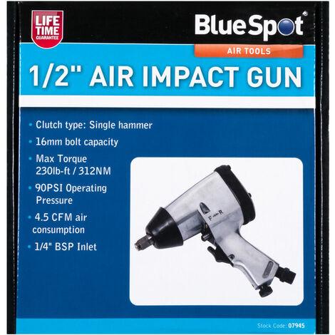 "BlueSpot 07945 1/2"" Air Impact Gun"