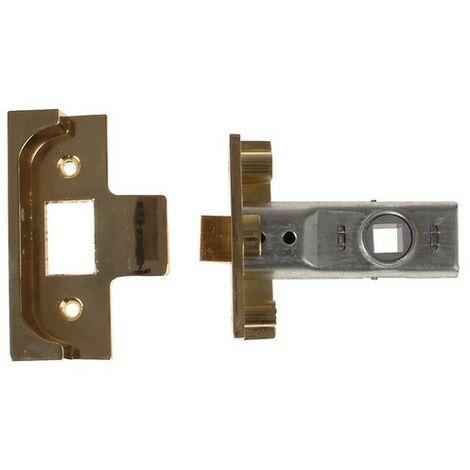 Yale Locks P-M999-PB-64 M999 Rebate Tubular Latch 64mm 2.5 in Polished Brass Finish