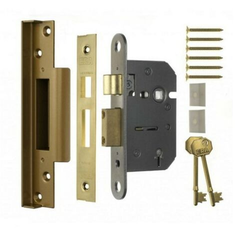ERA 217-32 Rebated Morice Sashlock 5 Lever 67mm Polished Brass