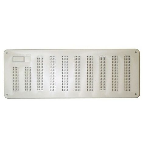 """Stadium BM473 White Plastic Hit and Miss Ventilator with Integral Flyscreen 9.1/2"""" x 3.1/2"""""""