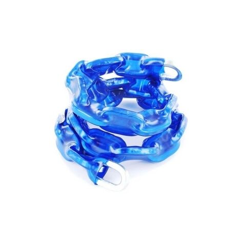 Securit B1282 Square Link Blue Thermowrap Sheath Chain 6 x 1000mm Pack Of 1