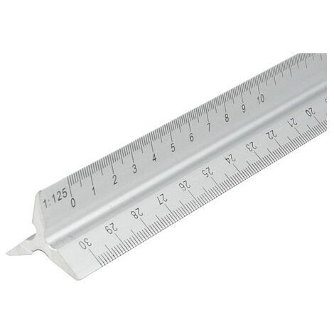 Faithfull FAIRULETRI Aluminium Rule 300mm Triangle
