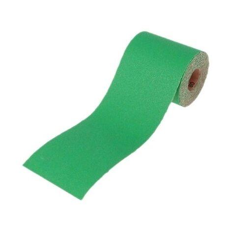 Faithfull FAIAR5120G Aluminium Oxide Sanding Paper Roll Green 115mm x 5m 120g