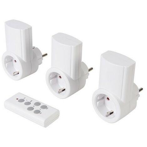 Powermaster 708429 Wireless Remote Control Power Socket 230V 3pk EU 13A 230V