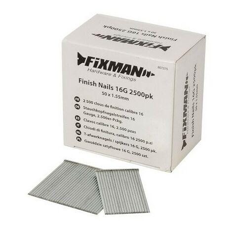 Fixman 807375 Finish Nails 16G 2500pk 50 x 1.55mm