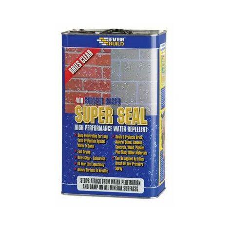 Everbuild WALLSEAL5 408 Super Seal Clear 5 Litre