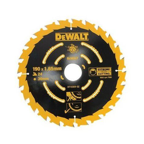 DeWalt DT10304-QZ Circular Saw Blade 190mm x 30mm x 24 Teeth Corded Extreme Framing