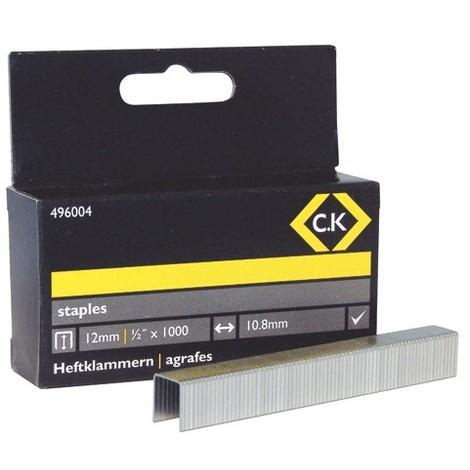 CK 496004 Staples 10.5mm wide x 12mm deep Box Of 1000