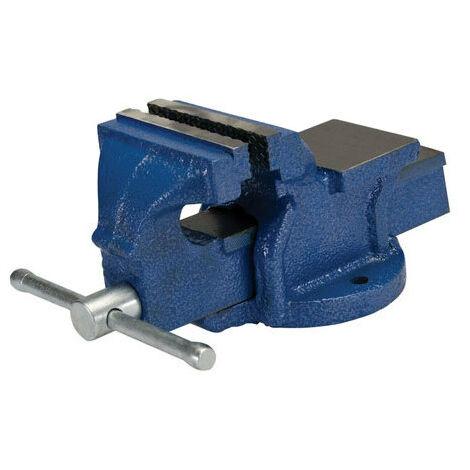 """Silverline 633792 Engineers Workshop Vice 100mm (4"""") Jaw Capacity 120mm / 4.5kg"""