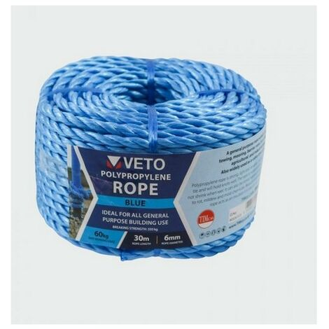 Veto BR630C Blue Poly Rope Coil 6mm x 30m