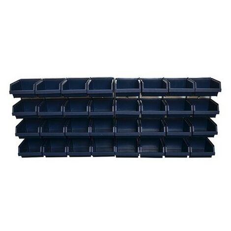 Raaco 139182 Bin Wall Panel with 32 Bins