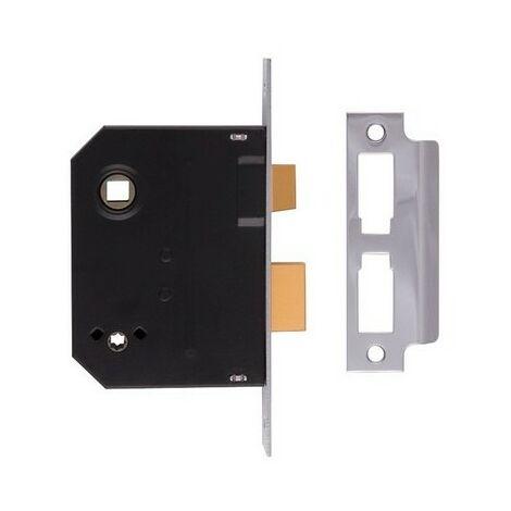 UNION J2294-CH-3.00 Mortice Bathroom Lock Chrome Finish 76mm 3in Box