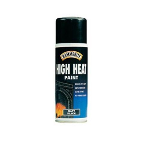 Hammerite HHPBLAERO High Heat Paint Aerosol Black 400ml