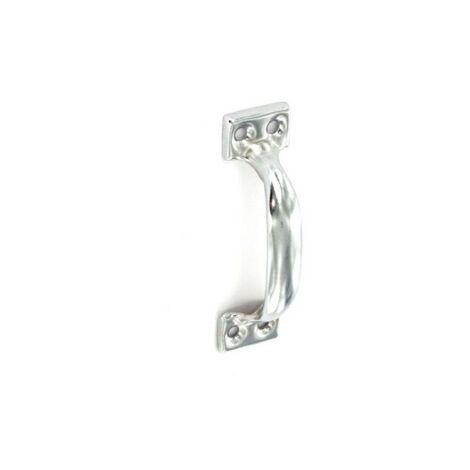Securit S3690 Face Fix Pull Handle Bright Zinc Plated 75mm Pack Of 2