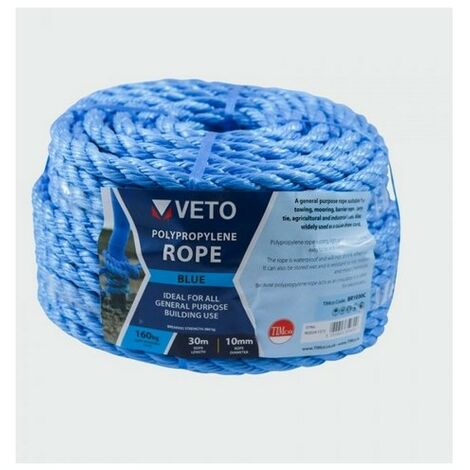 Veto BR1030C Blue Poly Rope Coil 10mm x 30m