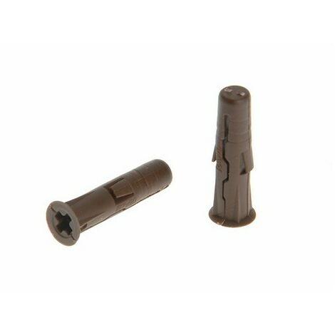 Rawlplug RAW68555 Brown Uno Plugs 7mm x 30mm Card of 48