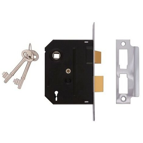 UNION J2295-PL-3.00 2 Lever Mortice Sashlock Polished Brass 76mm 3in Box