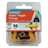 Plasplugs HWST010 Super Toggle Fixings (Pack 10)
