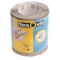 Flexovit 63642526410 General Purpose Sanding Roll 115mm x 5m Extra Coarse 50g