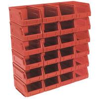 Sealey TPS224R Plastic Storage Bin 105 x 165 x 83mm - Red Pack of 24