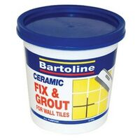 Bartoline 52850130 Fix and Grout Tile Adhesive 1kg Tub