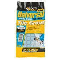 Everbuild UNIFLEX5WE 730 Universal Flexible Hygenic Wall & Floor Tile Grt White 5kg