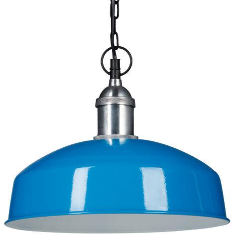 Lámpara colgante, Iluminación de techo, Diseño moderno, 142 x 31 x 31 cm, 1 Ud., Azul claro