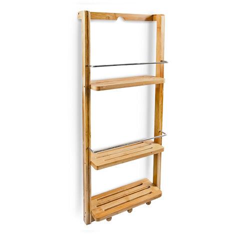 10017163 - Estantería para ducha con tres niveles, bambú