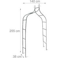 - Romántico arco para rosas y plantas trepadoras Metal 2,4 metros Color verde