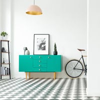 Estantería de esquina, De pie, Mueble de almacenaje, Vintage, Escalera, 125x48x32 cm, 1 Ud., Negro & Marrón