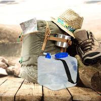 Bidones plegables, Grifo, Boca ancha & Correa, 15L, Sin BPA, 2 Uds., Transparentes