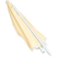 Sombrilla Jardín y Terraza Reclinable con 8 Varillas, Poliéster, Amarillo claro, 180 cm