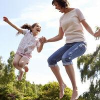 Cama Elástica Exterior para Niños y Adultos hasta 150 kg, Acero-PP-PVC, Gris, Ø 305cm
