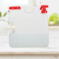 Bidón con grifo, Tapón de rosca, Depósito de agua potable, Para camping, 10L, Sin BPA, 1 Ud., Blanco & Rojo