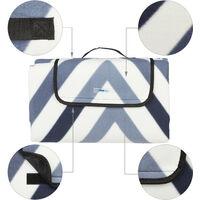 Manta Picnic XXL, 200 x 200 cm, Esterilla Playa, Estera césped, Aislante e Impermeable, con Asa, Multicolor