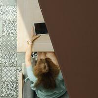 Toldo Vela Rectangular, 3,5 x 4,5 m, Repelente al agua, Protección UV, con Cuerdas, Terraza, Balcón, Marrón