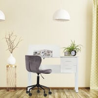 Escritorio reclinable, Mesa ajustable, Escritorio de dibujo, 75x110x55 cm, Blanco