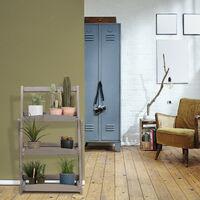 Escalera Plantas, 3 Niveles para Macetas, Plegable, Estante para Maceteros, Soporte Madera, 80x50x64 cm, Gris