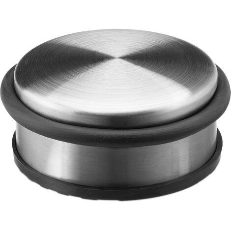 Relaxdays Small Stainless Steel Door Stop With Rubber Ring Doorstop