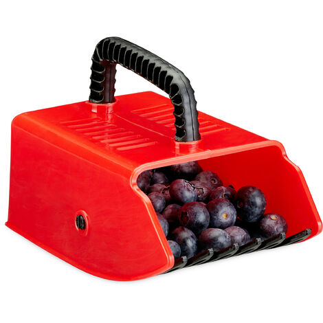 Relaxdays Berry Picker, Berry Picking Aid, Plastic, For Raspberries, Blackberries, Blueberries, Blackcurrants, Raking Co