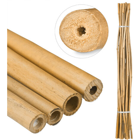 Relaxdays Bamboo Canes 150 cm, Natural Bamboo Rods For Plant Support Or Decoration, For Insects, Different Colours