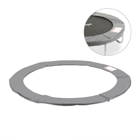 Relaxdays Trampoline Padded Surround, PVC Spring Cover, Trampoline Accessory, Ø 183 cm, Anthracite