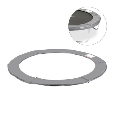 Relaxdays Trampoline Padded Surround, PVC Spring Cover, Trampoline Accessory, Ø 366 cm, Anthracite